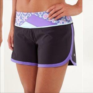 Lululemon | groovy run shorts power purple floral